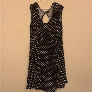 B&W polka dot comfy dress